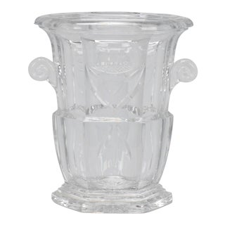 Large Early 20th Century French Crystal Ice Bucket For Sale