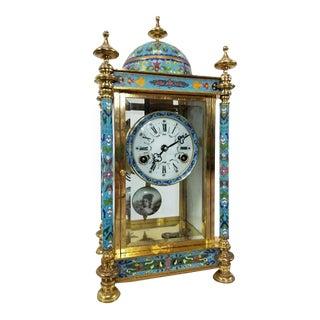 Antique Asian Cloisonne Clock For Sale
