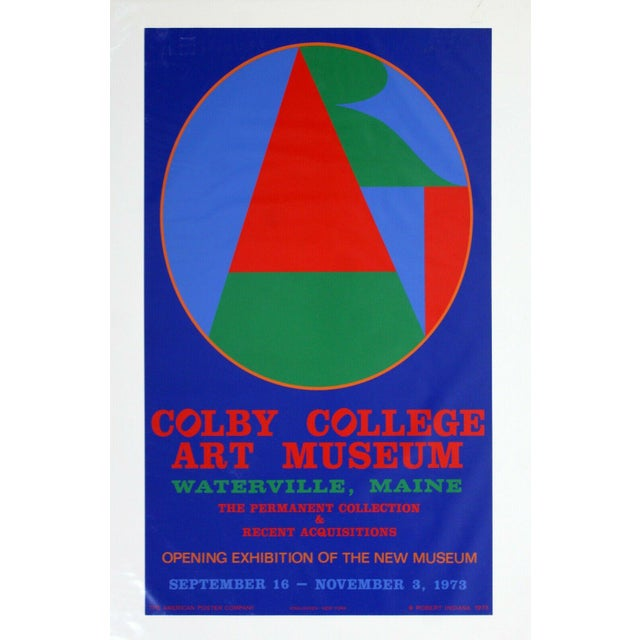 Mid-Century Modern Mid Century Modern Unframed Robert Indiana Coby College of Arts Poster 1970s For Sale - Image 3 of 3