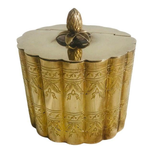 1970s Vintage Lidded Brass Trinket Box For Sale
