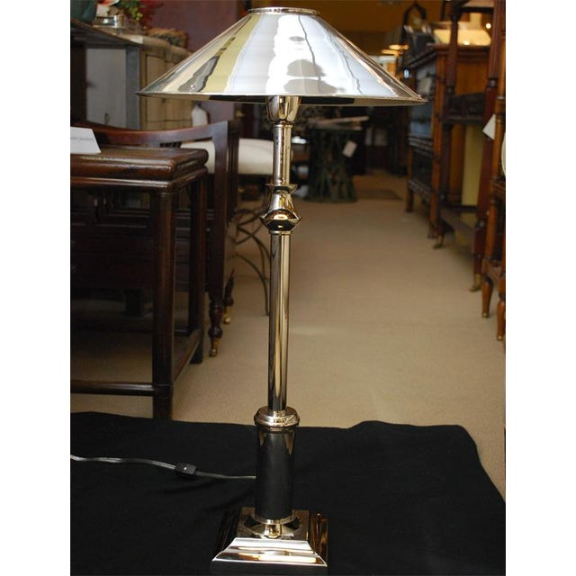 Chrome Candlestick Lamps - Pair - Image 5 of 6