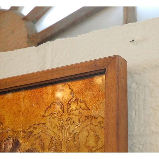 Glass Italian Mid-Century Églomisé Panel For Sale - Image 7 of 9