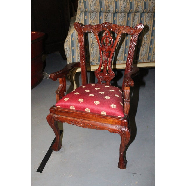 Late 20th Century Children's Chippendale Chair For Sale - Image 4 of 4