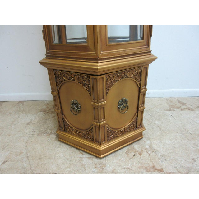 Vintage Louis XV Gold Gilt French Regency Carved Curio Display ...