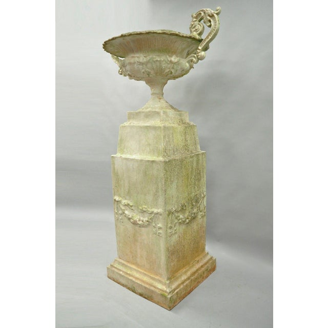 Garden Pedestal Water Fountain For Sale - Image 12 of 13