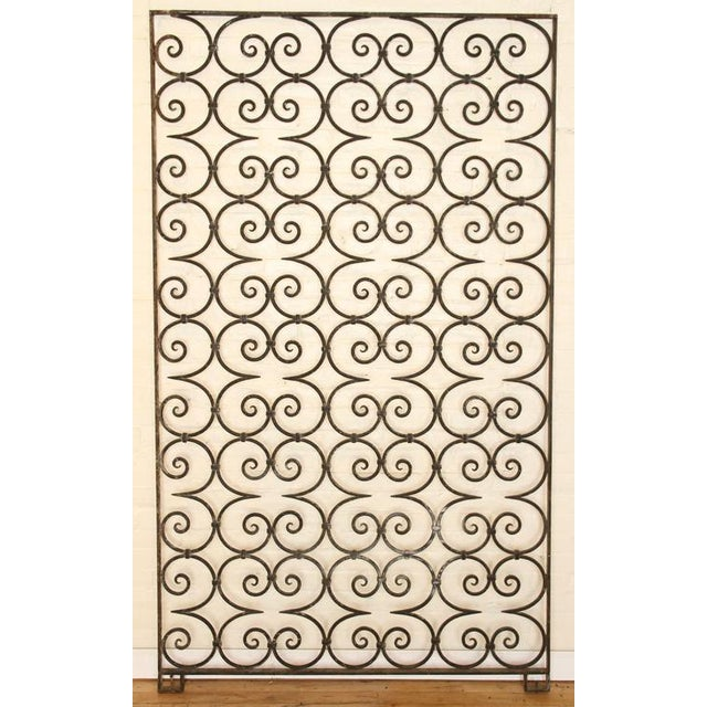1940s Antique Large Wrought Iron Architectural Panel Divider For Sale - Image 4 of 4