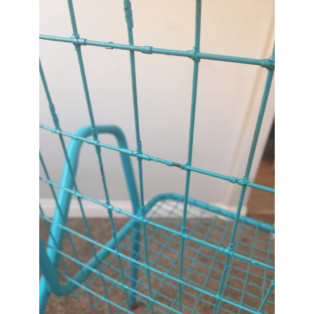 1950s Vintage Emu Industrial Metal Aqua Patio Chairs - Set of 4 For Sale - Image 11 of 13