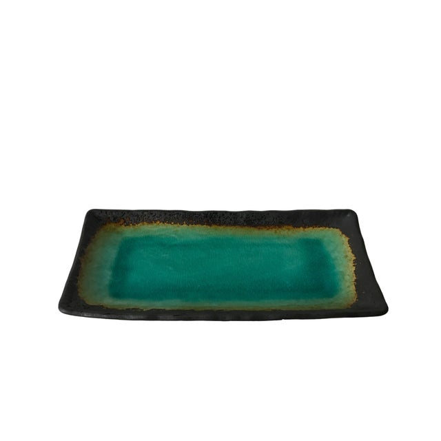 Turquoise Crackled Catchall Tray - Image 2 of 5