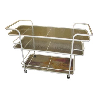 Brown Jordan Three Tier Serving Cart Designed by Richard Frinier For Sale