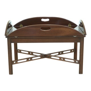 Ethan Allen 225 Cherry Chippendale Butler Coffee Table For Sale
