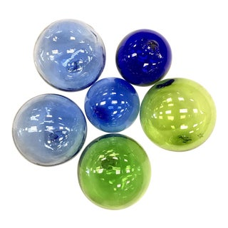 Japanese Glass Fishing Floats - Set of 6