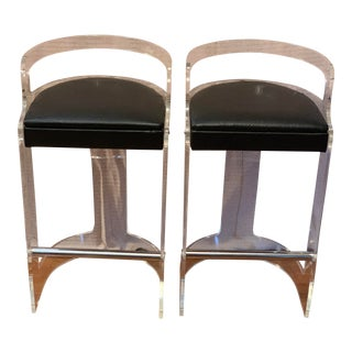 Vintage Charles Hollis Jones Counter Height Bar Stools- a Pair For Sale