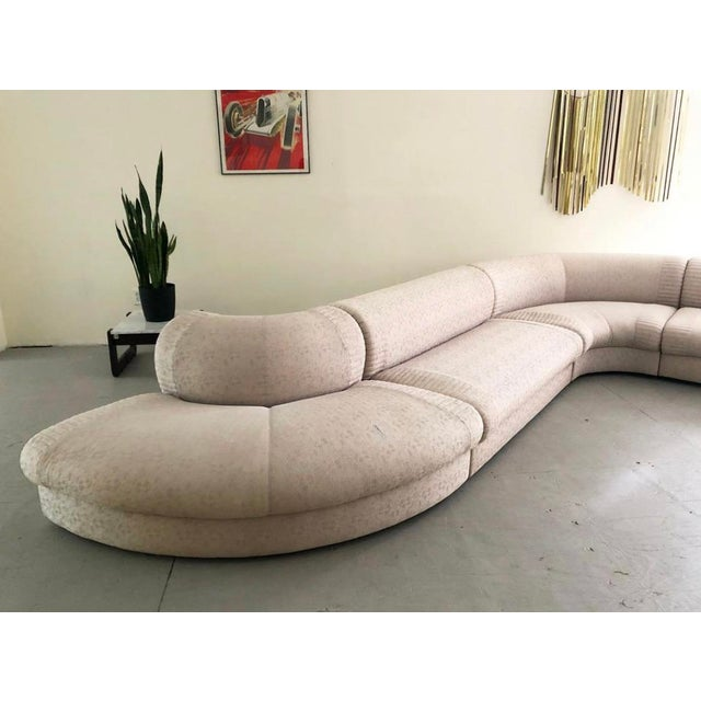 "Postmodern Post Modern Italian ""Serpentine"" Modular Sectional Sofa by Casa Bella For Sale - Image 3 of 5"