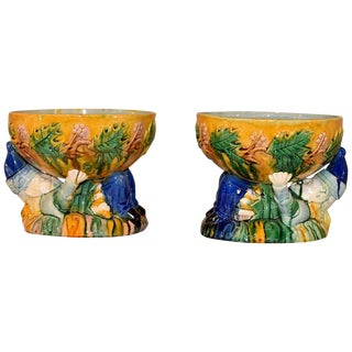 "Majolica ""Punch"" Bowls - a Pair For Sale"