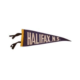 Vintage Halifax, NS Felt Flag For Sale