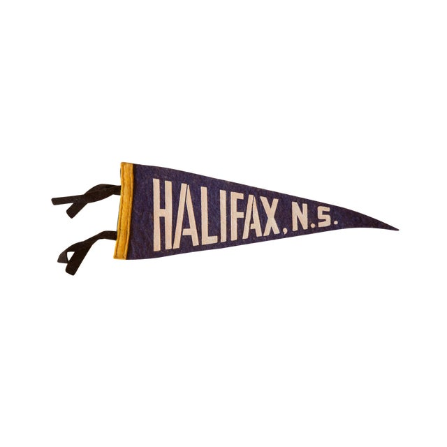 Vintage Halifax, NS Felt Flag For Sale