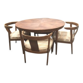 Vintage Mid Century B. P. John Dining Set- 5 Pieces For Sale