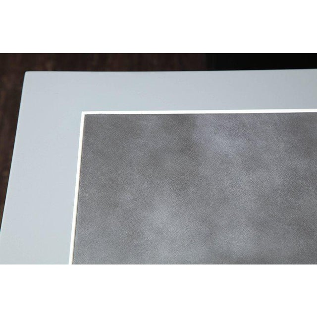 Animal Skin Metallic Grey Leather and Lacquer Game Table For Sale - Image 7 of 8