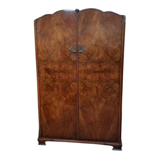 Burl Walnut Hanging Armoire