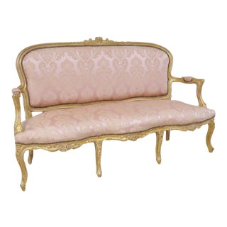 Louis XV Style Gold Gilt Sofa For Sale