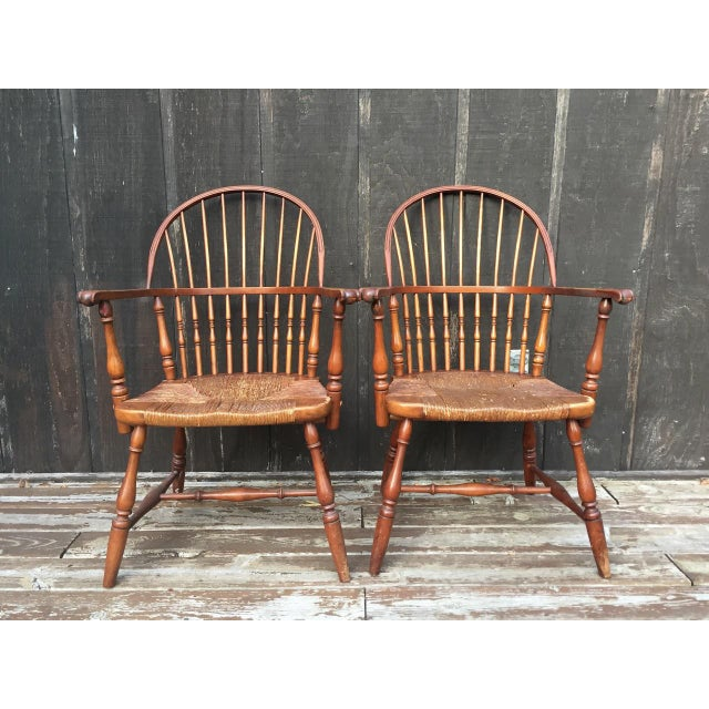 Cottage 1920s Barnard & Simonds Co. Chairs - Set of 4 For Sale - Image 3 of 11