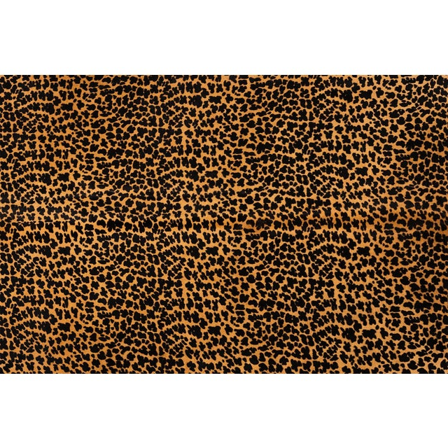 """leopard cowhide Brazil approximately 78"""" h x 90"""" w size + markings may vary slightly from cowhide pictured Measurements..."""