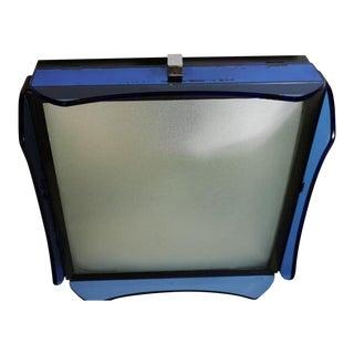 1960s Fontana Arte for Veca Italy Blue Glass Ceiling Lamp For Sale