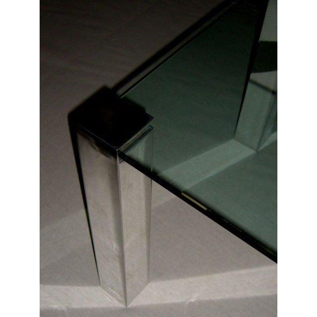 Paul M. Jones 1964 Paul M. Jones Fm 97 Aluminum Legged Glass Table For Sale - Image 4 of 7