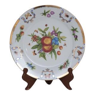 1970's Vintage Porcelain Fruit Plate on Stand For Sale