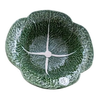 Olfaire Portugal Cabbage Serving Green Bowl For Sale
