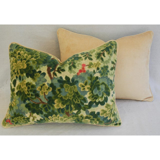 Custom-Tailored Scalamandre Velvet Marly Pillows - Pair - Image 11 of 11