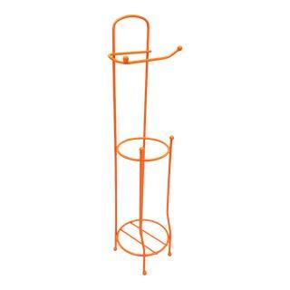 Mid Century Modern OrangeToilet Paper Roll Holder For Sale
