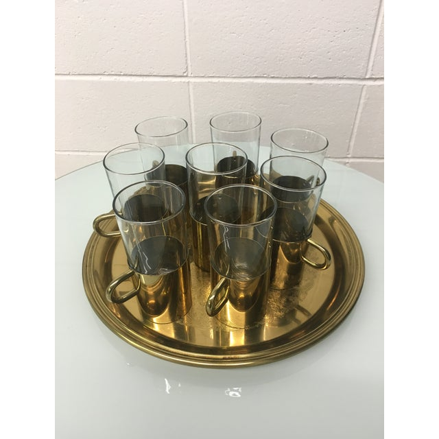 Turkish Coffee Glasses With Tray - Set of 8 - Image 3 of 8