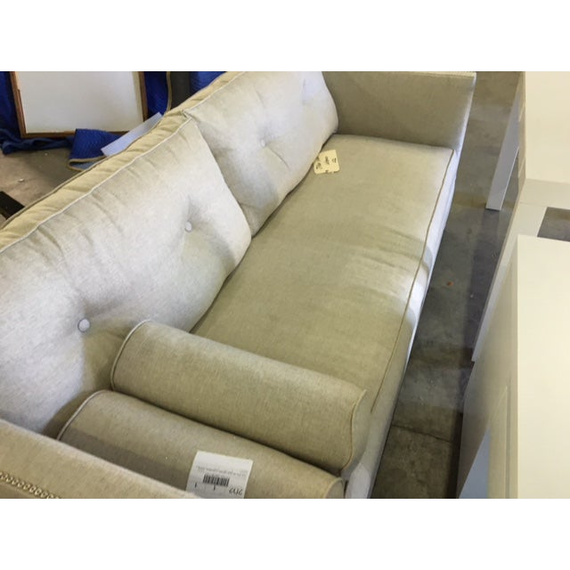 Contemporary Linen Sofa - Image 5 of 9