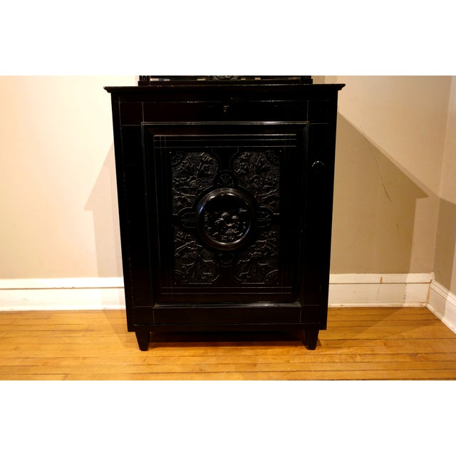 Late 19th Century Victorian Ebonized Vinyl Records Cabinet For Sale - Image 5 of 6