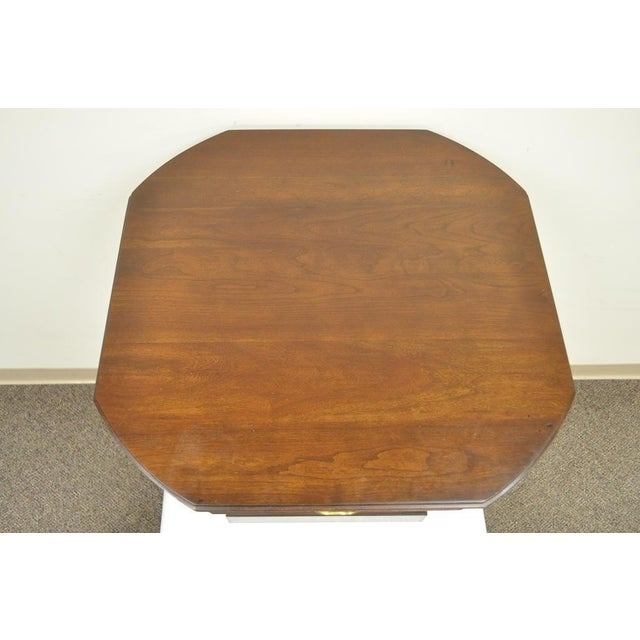 Harden Solid Cherry Octagonal Storage Cabinet End Table - Image 7 of 11