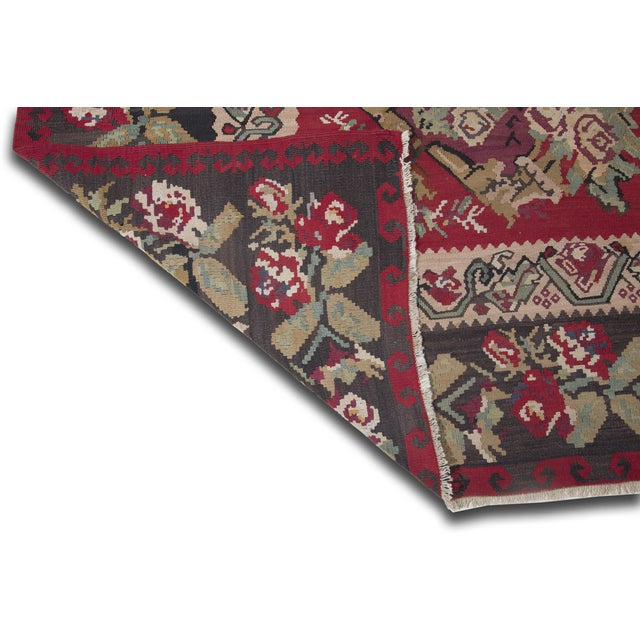 "Anatolia Turkish Kilim Large Rug - 9'6"" X 10'8"" - Image 7 of 10"