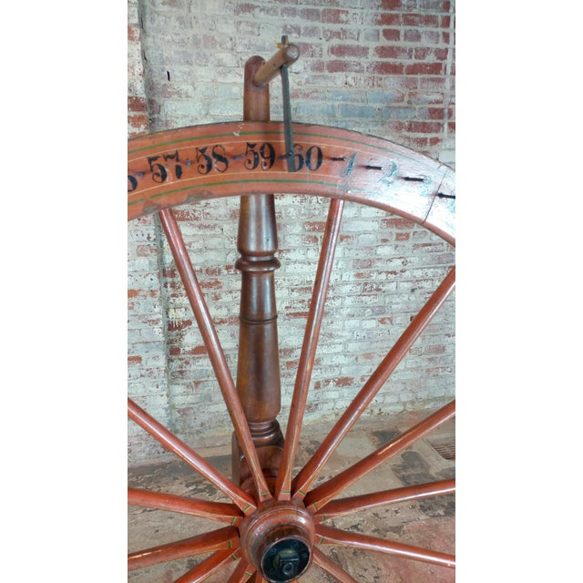 Americana 19th century Large Saloon Gaming spinning wheel of fortune For Sale - Image 3 of 12