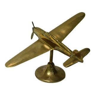 British Hawker Hurricane Brass Model Airplane