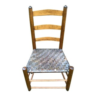 1840s Shaker Ladder Back Chair For Sale