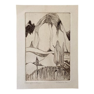 Abstract Landscape Stone Lithograph For Sale