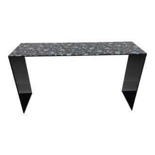 Contemporary Glas Italia Black Lacquered Glass Console Table