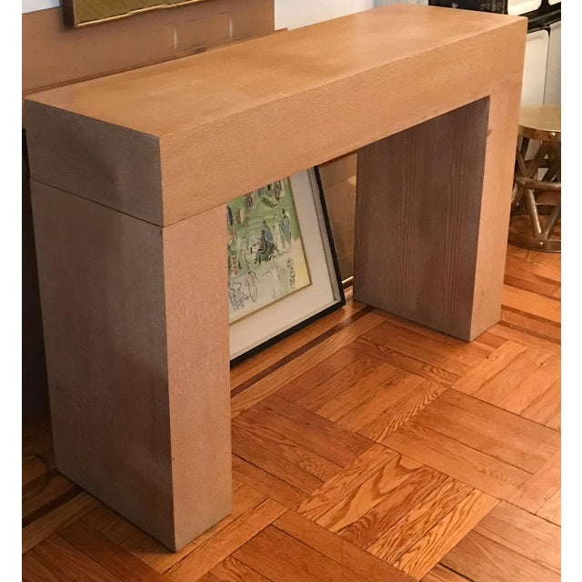 Modern Wood Console Table - Image 4 of 10