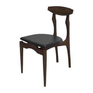 Femur Wood and Velvet Chair By Atra For Sale
