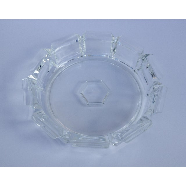 Contemporary Modern Lucite Fluted Server Center Bowl For Sale - Image 3 of 11