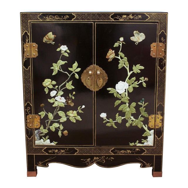 Vintage Hand-Painted Asian Chest - Image 1 of 6