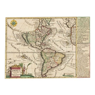 1740s Map of America California an Island, America Verfertiget Von Joh. Georg Schreibem in Leipzig For Sale