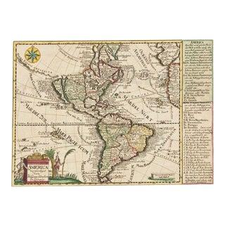 Mid 18th Century German Map of America California an Island, America Verfertiget Von Joh. Georg Schreibem in Leipzig For Sale