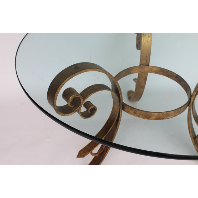 Gilded Scrolled & Glass Dining Table For Sale - Image 4 of 7