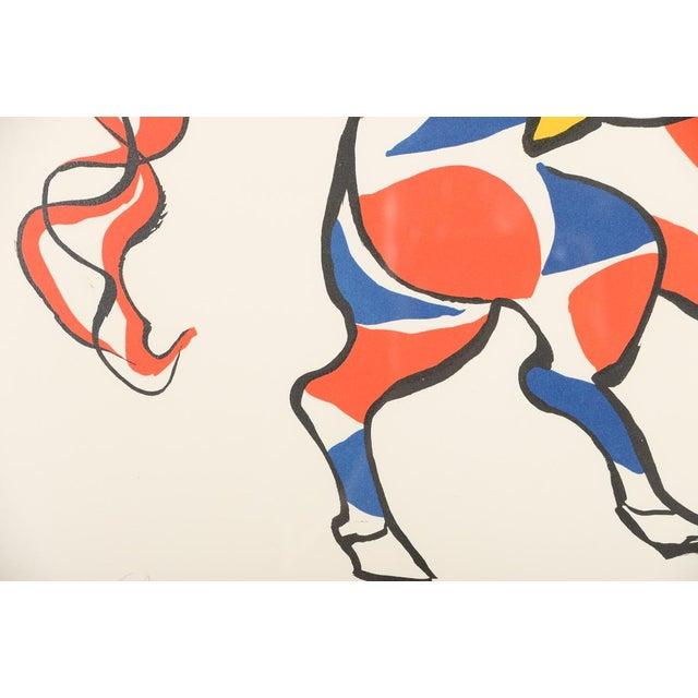 """Circus Bareback Rider"" Framed Alexander Calder Lithograph For Sale - Image 4 of 10"